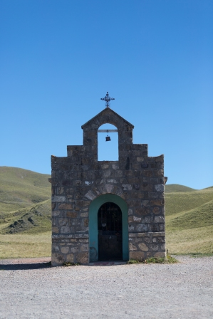 Roadside religious shrines are common in northern Argentina.