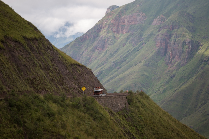 Along the Cuesta de Obispo, a zigzagging mountain pass between Cachi and Salta.