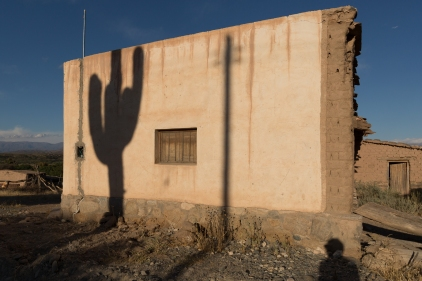Shadows on a home we passed on our way to Cachi.
