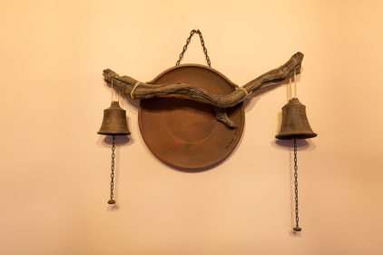 A rustic and rusty wall hanging in Cafayate.